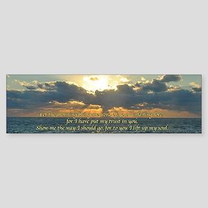 psalm143Long Sticker (Bumper)
