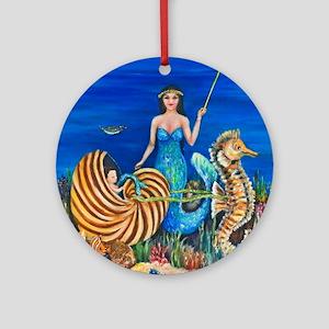 Fairy Godmother Mermaid 11x11 290 J Round Ornament
