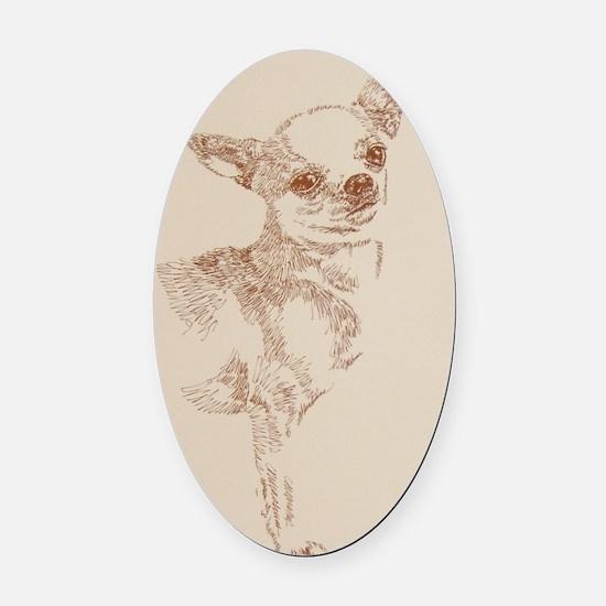 Chihuahua_Kline Oval Car Magnet