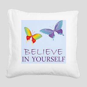 cp_believeinyourself Square Canvas Pillow