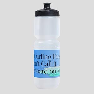 Curling Slogan Sports Bottle