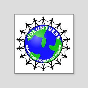 "volunteers world final Square Sticker 3"" x 3"""