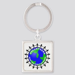 volunteers world final Square Keychain