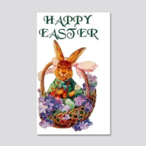 EASTER BUNNY 35x21 Wall Decal