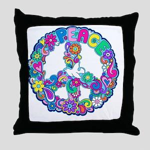 peace 01 Throw Pillow