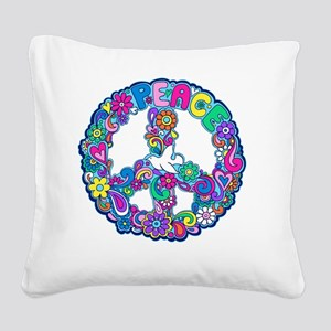 peace 01 Square Canvas Pillow