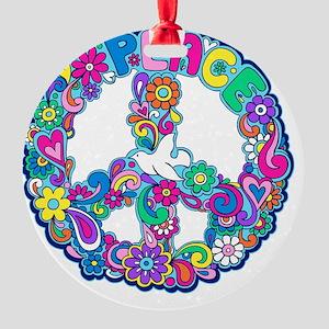 peace 01 Round Ornament
