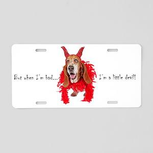 BassetDevil Aluminum License Plate