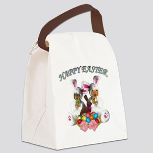 easter dogs doxies copy Canvas Lunch Bag