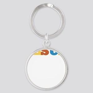 become_a_fan Round Keychain