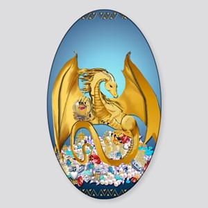 Big Gold Dragon_journal Sticker (Oval)