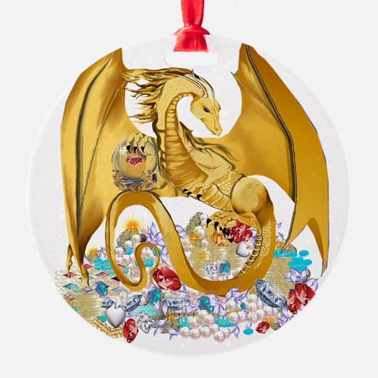 Big Gold Dragon and Glob Trans Ornament