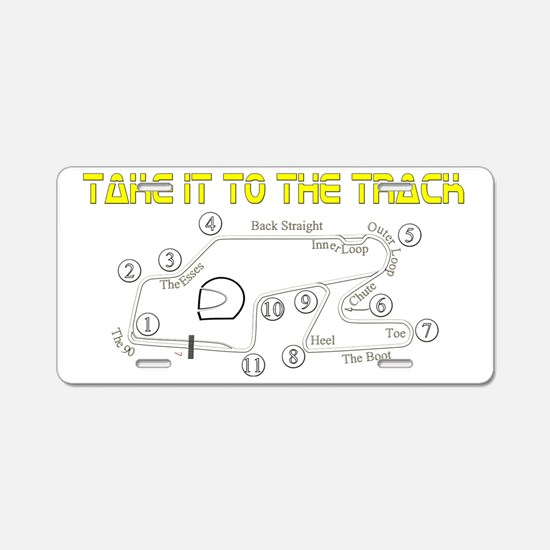 to-the-track Aluminum License Plate
