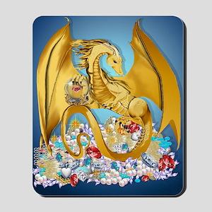 2-BigGoldDragonwithGlobe PosterP Mousepad