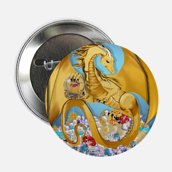 "2-BigGoldDragonwithGlobe PosterP 2.25"" Button"