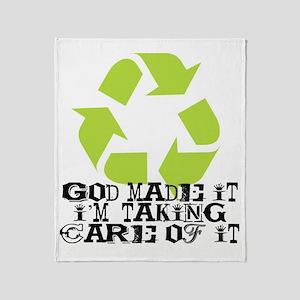 God made it Throw Blanket