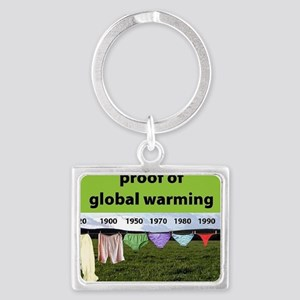Proof of Global Warming Landscape Keychain