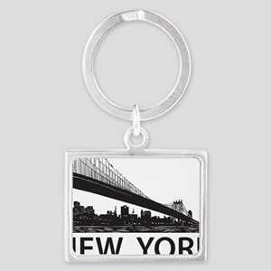 New York Skyline Landscape Keychain