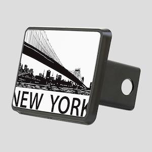 New York Skyline Rectangular Hitch Cover