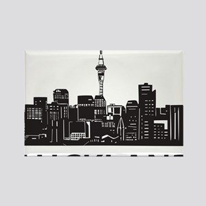 Auckland Rectangle Magnet