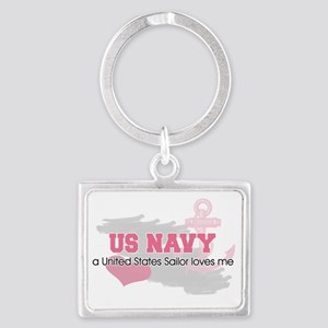 US Sailor loves me Landscape Keychain