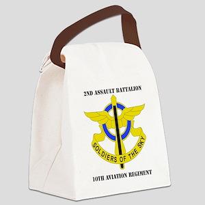 DUI - 2-10th Aviation Regiment wi Canvas Lunch Bag