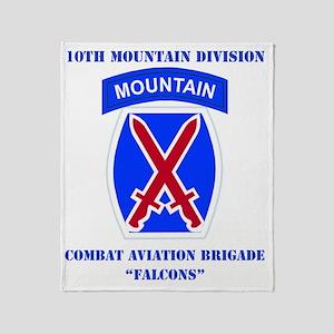 DUI - 10th Mountain Division - CAB w Throw Blanket