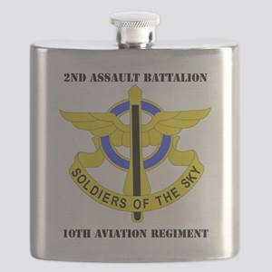 DUI - 2-10th Aviation Regiment with Text Flask