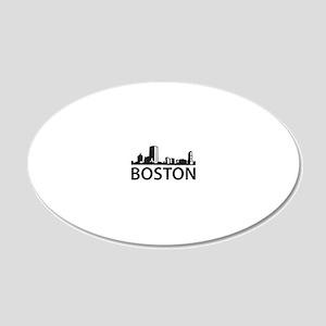 Boston Skyline 20x12 Oval Wall Decal