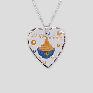 orange orange yogurt distress Necklace Heart Charm
