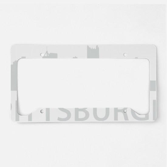 pittsburgh1Bk License Plate Holder