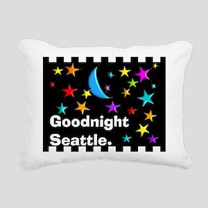 Good Night Seattle Blanket Rectangular Canvas Pill