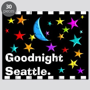Good Night Seattle Blanket Puzzle