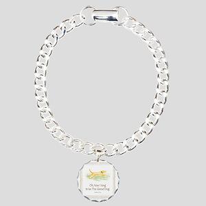 Good Dog-no green Charm Bracelet, One Charm