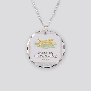 Good Dog-no green Necklace Circle Charm