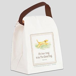 Good Dog-no green Canvas Lunch Bag