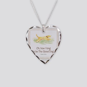 Good Dog-no green Necklace Heart Charm