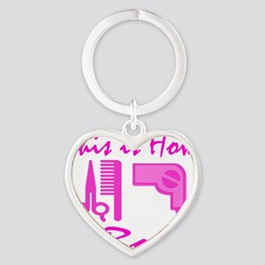 Beautician Heart Keychain