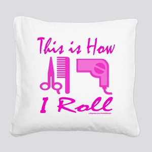 Beautician Square Canvas Pillow