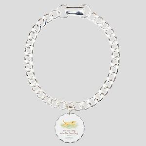 Good Dog-circle Charm Bracelet, One Charm
