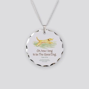 Good Dog-circle Necklace Circle Charm