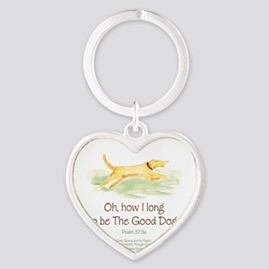 Good Dog-circle Heart Keychain