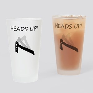 TomahawkBlackHeadsUPcentered Drinking Glass