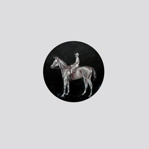 race horse and jockey Mini Button