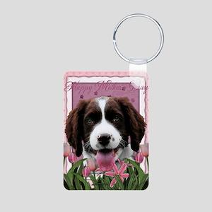 PinkTulips_English_Springe Aluminum Photo Keychain