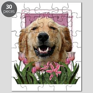 PinkTulips_Golden_Retriever Puzzle