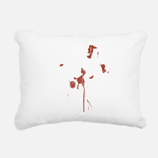 Fake white Rectangular Canvas Pillow