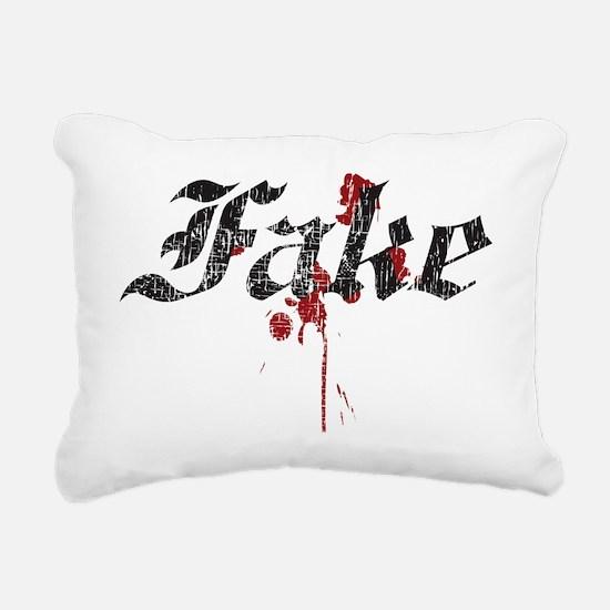 Fake Rectangular Canvas Pillow