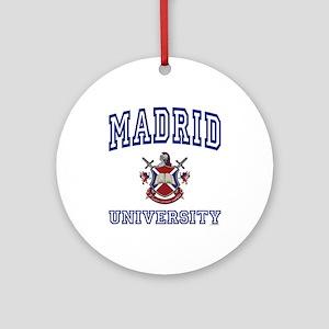 MADRID University Ornament (Round)