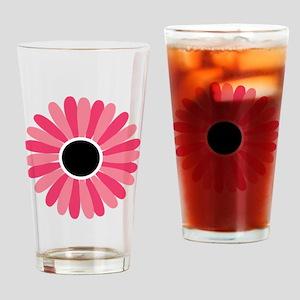 girl-power-flower-button Drinking Glass